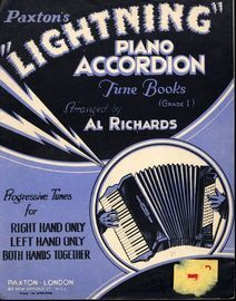 Paxtons Lightning Piano Accordion Tune Books - Grade I - Progressive Tunes for Right Hand Only, Left Hand Only and Both Hands Together