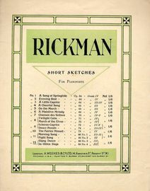 Rickman Short Sketches for Pianoforte