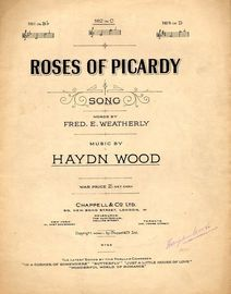 Roses of  Picardy  -  Song  -  In the key of C major for Medium Voice