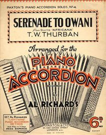Serenade to Owani. Suite Africana Accordion, T W Thurban