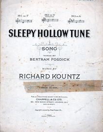 Sleepy Hollow Tune - Song - In the key of G major for medium voice