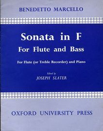Sonata in F for flute and bass, for flute (or treble recorder ) and piano