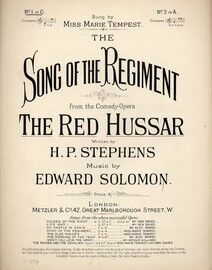 Song Of The Regiment. From The Red Hussar