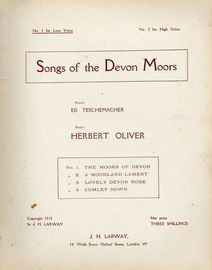 Songs of the Devon Moors, containing the songs The moors of devon, A moorland lament, Lovely devon rose and Cumley down