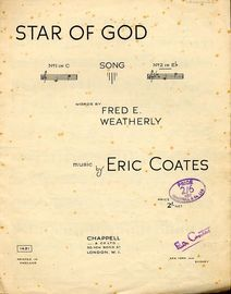 Star of God - Song in the key of E flat major for High voice