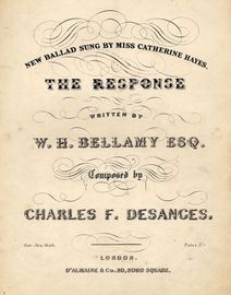 The Response, ballad sung by Catherine Hayes,