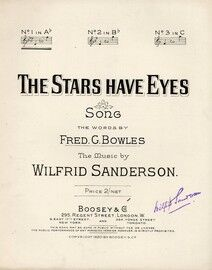 The Stars Have Eyes - Song in the Key of A flat major for low voice