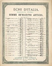 Va sbramando quegli ardori, aria in the opera of Faust, Echi DItalia. German & Italian text,