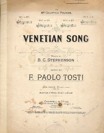 Venetian Song - Song in the key of F for High Voice