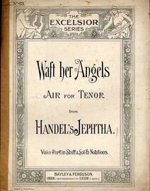 Waft Her Angels.  Air for Tenor