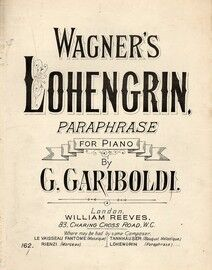Wagners Lohengrin Paraphrased, for piano