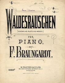 Waldesrauschen (Rustling Woods) for piano
