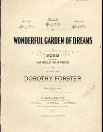 Wonderful Garden of Dreams - Song in the key of F Major for Medium Voice