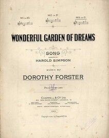 Wonderful Garden of Dreams - Song in the key of G Major for High Voice