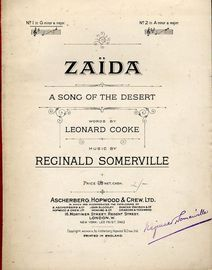Zaida. A song of the Desert