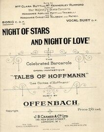 Night of Stars and Night of Love! - Song - In the key of F major for high voice