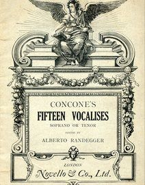 Concone's Fifteen Vocalises for Contralto or Mezzo Soprano or Tenor