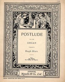 Postlude for the Organ - Original Compositions (New Series) No. 64