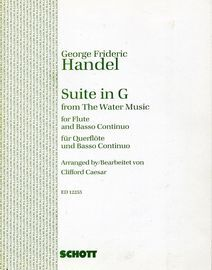 George Frideric Handel - Suite in G from The Water Music for Flute and Basso Continuo - Edition 12255
