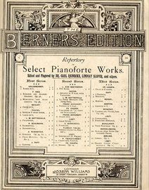Repertory of select pianoforte works. Second series,No. 11, Chant sans paroles