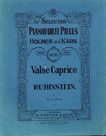Rubinstein - Valse Caprice - Selected Pianoforte Pieces Holmes and Karn No. 10 - Piano Solo
