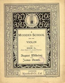 A Modern School for the Violin - Book 3a (Third Book of Technical Practice)