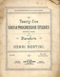 25 Easy and Progressive Studies for small hands - Op. 100