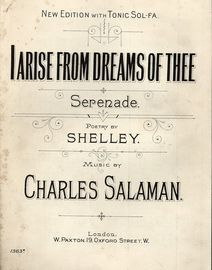I Arise from Dreams of Thee - Serenade - New Edition with Tonic Sol Fa