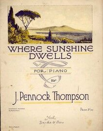 Where Sunshine Dwells - For Piano - With Illustration of Bay of Naples
