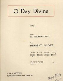 O Day Divine - Song - In the key of D flat major