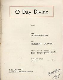 O Day Divine - Song - In the key of E flat major