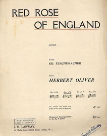 Red Rose of England - Song in the key of E flat major for lower voice