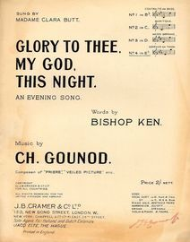 Glory to Thee My God This Night - Song in the key of E flat major for Soprano or Tenor