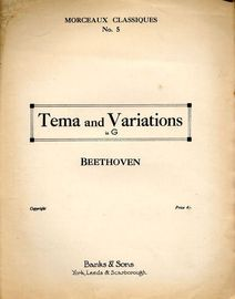 Tema and Variations - In G - Morceaux Classiques