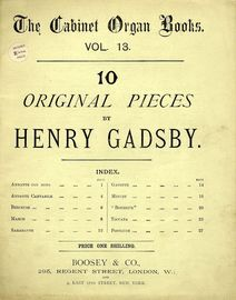 10 Original Pieces - The Cabinet Organ Books Series - Vol. 13