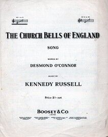 The Church Bells of England - Song in the key of C major for Lower voice