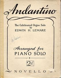 Andantino - The Celebrated Organ Solo arranged for Piano Solo