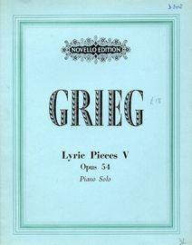 Lyric Pieces V - Op. 54 - Piano Solo - Novello Edition