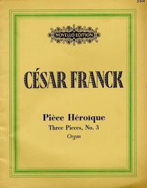 Piece Heroique - Three Pieces No. 3 - Organ - Novello Edition