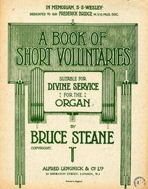 A Book Of Short Voluntaries - Suitable for Divine Service - For the Organ