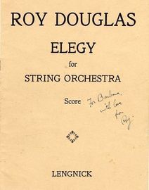 Elegy for String Orchestra - Score for 1st Violins, 2nd Violins, Violas, Cellos and Basses