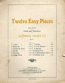 Village Dance - No. 6 from Twelve Easy Pieces (First Position) for Violin and Pianoforte - Op. 37