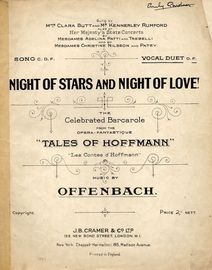 Night of Stars and Night of Love! - Vocal Duet in the key of F major