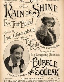 Rain or Shine - Fox Trot Ballad - No. 1369 - Featuring Miss Elsie Roby and Charlie Rich - Sung in the Big Laughing Success