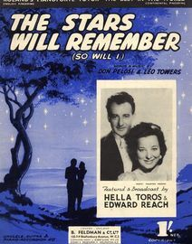 The Stars Will Remember (So Will I)   -  Featuring Hella Toros & Edward Reach