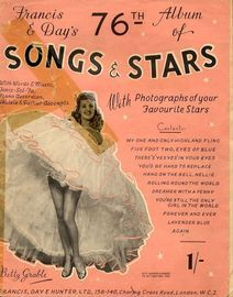 Francis and Days 76th Album of Songs and Stars - With Photographs of your Favourite Stars - With Words, Music, Tonic Sol-Fa, Piano ACcordion and Ukule