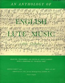 An Anothology of 16th Century English Lute Music - Edition Schott No. 10311 - Schotts Series of Early Lute Music No. 2