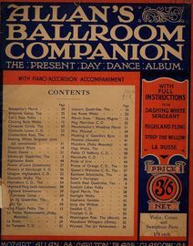 Allans Ballroom Companion - The Present Day Dance Album -  For Piano - With Piano-Accordion Accompaniment - With full instructions for The dashing whi
