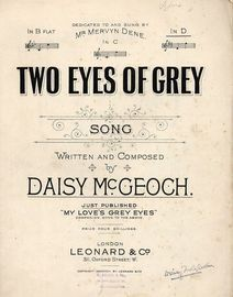 Two Eyes of Grey - Song in the key of D major for high voice