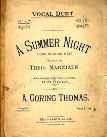 A Summer Night - (Une nuit De Mai)-  Vocal duet in the key of C major